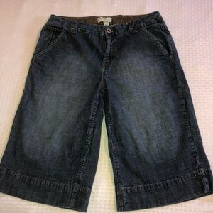 Venezia dark cropped jeans long shorts capris